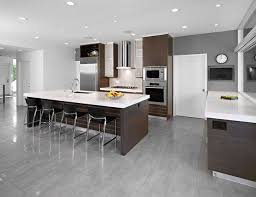 modern kitchen with brown cabinets 15 cool kitchen designs with gray floors grey kitchen