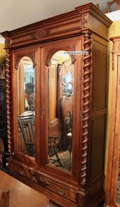 magnificent henry ii french antique barley twist walnut armoire