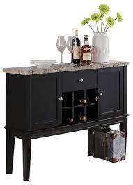 Break Front Cabinet Wood Breakfront Cabinet Buffet Wine Storage Table Marble Top