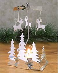 christmas holder christmas tree candle holder spinning candle with