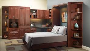 wall beds with desk wonderful amish horizontal wall bed set with side storage from