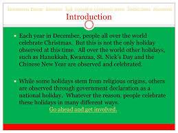winter holidays around the world ppt