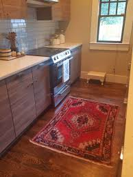 Small Kitchen Rugs In Vogue Rubber Kitchen Rugs On Brown Wooden Floors As Well As