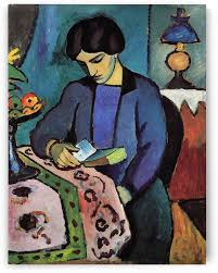 wife of the artist by august macke