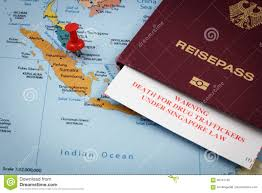 Death Penalty States Map by Singapore Passport And Immigration Card With Death Penalty