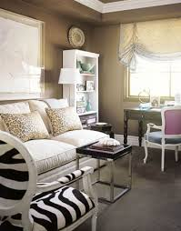 a technicolor condo taupe zebra chair and walls
