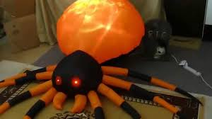 8ft fire and ice lightshow spider 2014 gemmy halloween youtube