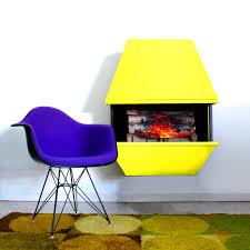 Yellow Fireplace Mid Century Yellow Electric Fireplace Shoplinkz Home U0026 Decor