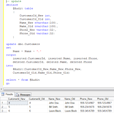 How To Delete A Table In Sql Sunday T Sql Tips Inserted Deleted Tables And Output Clause