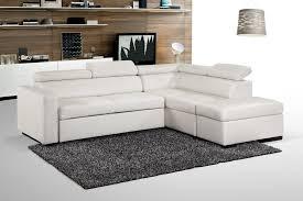 canapé d angle pouf canapé d angle convertible simili blanc blint lestendances fr