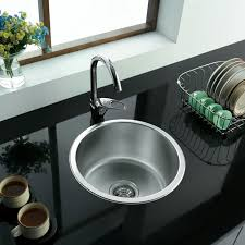 ENKI Stainless Steel  Single Bowl Round Inset Topmount Kitchen - Round sinks kitchen