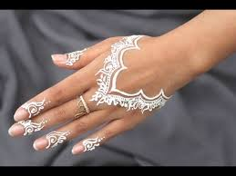 best diy how to apply white henna body paint temporary youtube