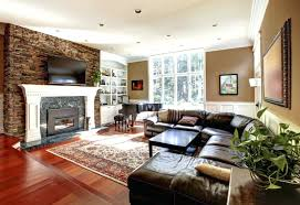 Family Room With Sectional Sofa Family Room Ideas With Gas Fireplace Captivating And Brown Leather
