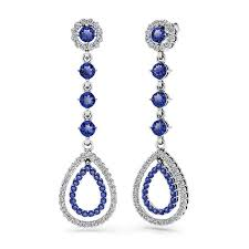 teardrop diamond earrings diamond sapphire teardrop earrings in white gold