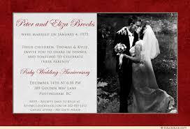40th anniversary invitations 40th wedding anniversary photo invitation celebration