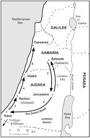 New Testament Map The Bible Journey Philip U0027s Journeys
