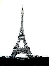 eiffel tower drawing by linda gehrt
