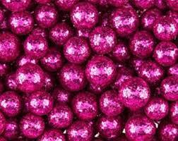 Pink Vase Fillers Red Glitter Foam Balls Vase Fillers Decorative Balls Small