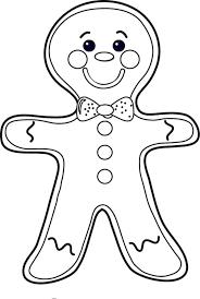 gingerbread man cookie coloring page u2014 allmadecine weddings