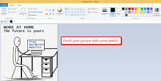 how to draw a stickman using ms paint work at home