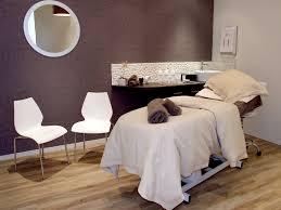Purple Accent Wall by Spa Room One Dark Accent Wall Massage Room Pinterest Spa