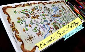 enchanted forest colouring book floresta encantada