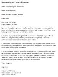 business letter proposal sample just letter templates