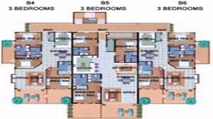 modern apartment floor plan with dimensions youtube