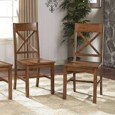 amazon com solid wood antique brown dining chairs set of 2