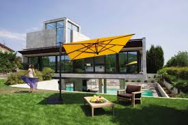 Offset Patio Umbrella Clearance by Furniture Wood Look Cantilever Umbrella With Iron Stand For