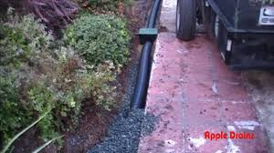 perforated pipe holes point down yard drain gravel drain