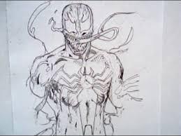 how to draw venom from spiderman marvel comics youtube