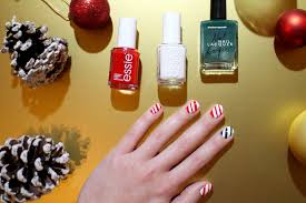blogmas day 12 candy cane nails tutorial thatsaleaf
