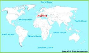Map Austria Austria World Map Pointcard Me