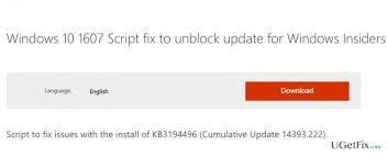 how to fix windows 10 cumulative update error kb3194496 and