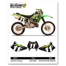 kdx 220 graphics decals emblems ebay