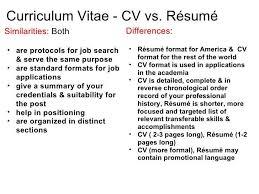 curriculum vitae cv vs resume curriculum vitae cv vs a resume exle 7 exles mail clerked