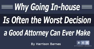 In House Counsel Resume Examples by Why Going In House Is Often The Worst Decision A Good Attorney Can