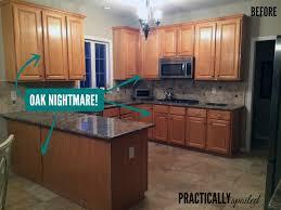 Painting Wood Kitchen Cabinets Wondrous Design Ideas  Before - Paint wood kitchen cabinets