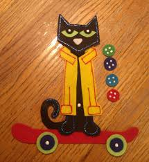 flannel felt board story pieces pete the cat and his four groovy