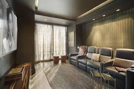 Blackout Curtains For Media Room This New York City Media Room Stays With Blackout Shades By