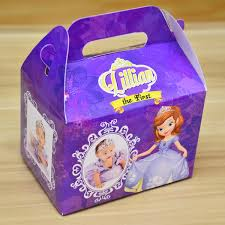 personalized favor boxes sofia the themed personalized favor boxes gift boxes