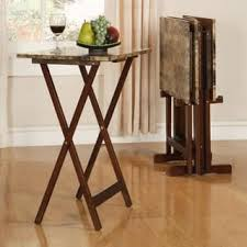 folding oversized wood tray table in espresso tv tray tables for less overstock