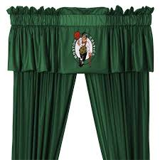 63 Inch Drapes Boston Celtics Nba Valance Drape Set Boston Celtics Nba Window