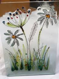Flower Glass Design 170 Best Fused Glass Idea Images On Pinterest Stained Glass