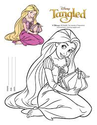 easy rapunzel coloring pages print birthday deco ideas