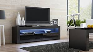 70 Inch Console Table Amazon Com Tv Console Milano Classic Black Tv Stand Up To 70