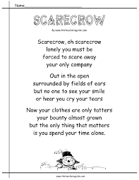 Poems About Halloween Autumn Worksheets And Printouts From The Teacher U0027s Guide