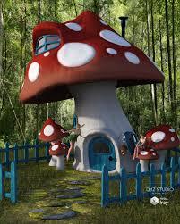 outdoor mushroom lights mushroom house 3d models and 3d software by daz 3d