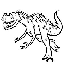 Scary Dinosaur Coloring Pages Funycoloring Dinosaur Coloring Page